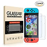 2 Pack Tempered Glass Screen Protector for Nintendo Switch By Mibote