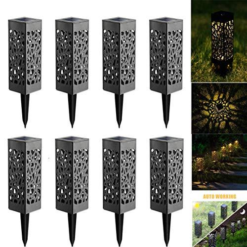Lamparas de Jardin, Lámpara Solar Luz ambient, Ideal Para Jardín y Patio, Lámparas Solares Farola LED, Fácil Instalación-Sin Cables