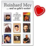 Reinhard Mey ..und so geht´s weiter! Lieder von 1986-2000 - Liederbuch mit herzförmiger Notenklammer