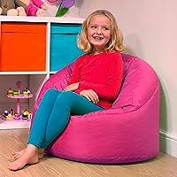 Hug Chair Kids Bean Bag - Indoor & Outdoor Bean Bag For Kids by Bean Bag Bazaar® (Pink, Large)