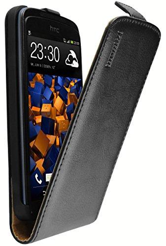 mumbi PREMIUM Leder Flip Case für HTC Desire 500 Tasche