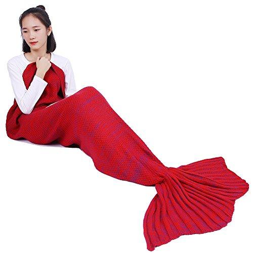 Kottle fatto a mano a maglia Mermaid Tail coperta divano Quilt sacco a pelo per adulti 195 × 95 cm