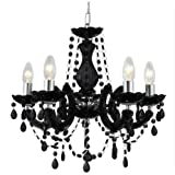 Marie Therese Crystal Glass Chandelier in Black by Marco Tielle