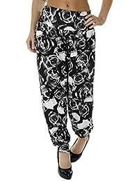 Love My Fashions Mujeres Liso - Azteca - Tie-Dye - Leopardo - Guepardo - Calavera - Camuflaje - Estampado Leopardo Larga & 3/4 Pantalones Harén Ali Baba Talla Grande S M L XL XXL XXXL