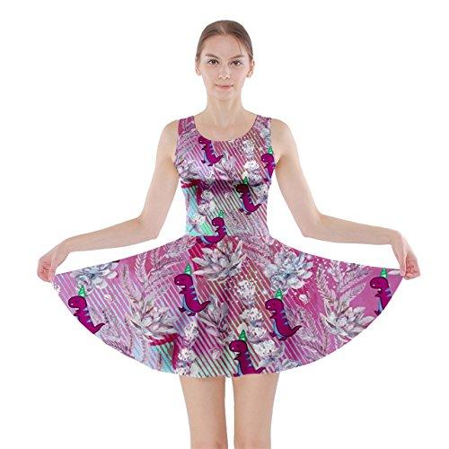 CowCow Damen Kleid Rosa Magenta Pink Floral