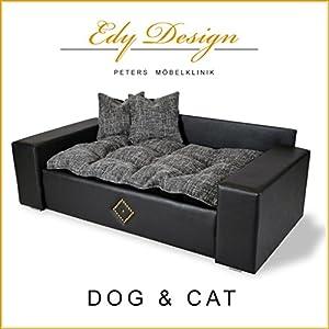 Edy Design Panier en similicuir en forme de canapé pour chien et chat TailleXXL