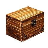 Vosarea Holz Schatztruhe Schatzkiste Holztruhe Vintage Schmuckschatulle Kleine Schmuckbox für
