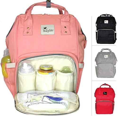 :: Die Original Wickeltasche zum Umhängen :: XL Volumen bis 24 Liter, bis 10 Kilogramm Füllgewicht :: Rucksack für Windeln Baby Kleinkinder :: Tasche zum Reisen u. für Kinderwagen ()
