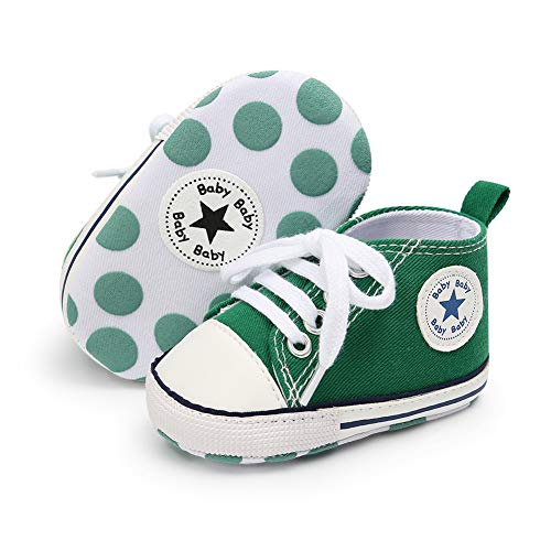Babycute Infant Canvas Shoes Trainers Soft Sole Casual Sneakers Baby Boys Girls First Walkers Shoes Lace Up