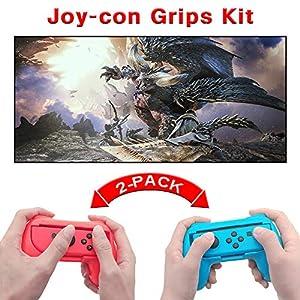 Joy Con Halterung Griff Gaming Controller [2 Stück] Komfort Gamepad Controller Grips für Nintendo Switch Joy-Con