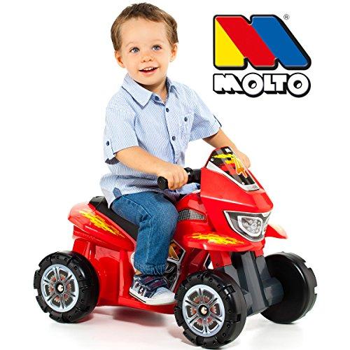 Kinder Quad im Rennauto Design, breite Reifen, für Innen und Außen nutzbar, 58x37 cm, Sitzhöhe 27 cm, bewegliches Lenkrad, ab 12 Monaten, Rutschauto für Kids, Kinder Fahrzeug, Mini Quad, Lauflhilfe - 2