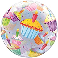 Qualatex 87.393,8cm singolo cupcakes 2,5cm Bubble balloon, 55,9cm