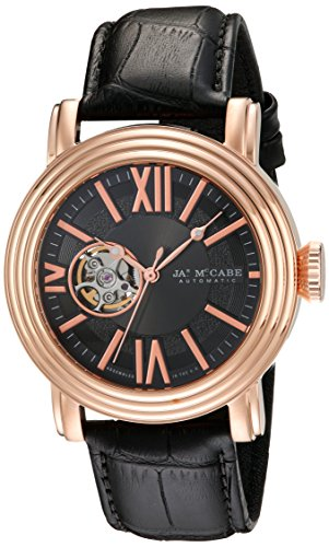 James McCabe Men's JM-1018-05 Victory Analog Display Japanese Automatic Black Watch
