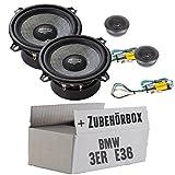BMW 3er E36 Heck - Audio System R 130 EM EVO - 13cm Lautsprecher System - Einbauset