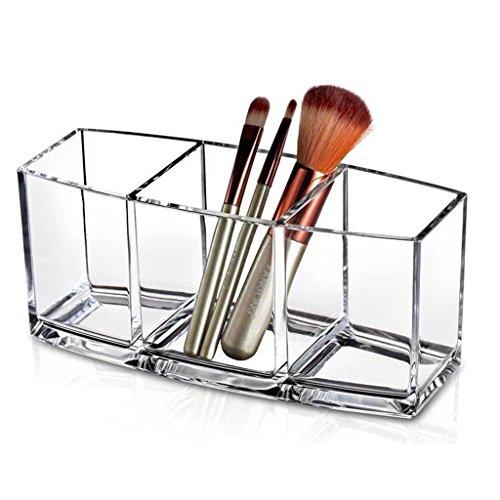 Étui cosmétique HWF Type de Porte-Stylo Transparent Boîte de Rangement Simple pour Outils de Maquillage Organisateur