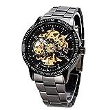 ufengke® fresco reloj de pulsera mecánica impermeable cara hueca automático para los hombres,reloj de pulsera muñeca buena calidad,de oro