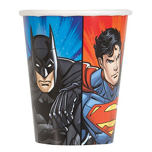 Unique Party Supplies 8 Pappbecher Justice League 25 cl