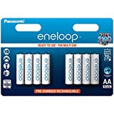 Panasonic eneloop BK-3MCCE/4BE AA Batteries - Ni-Mh Battery (1,900 mAh Pack of 8)