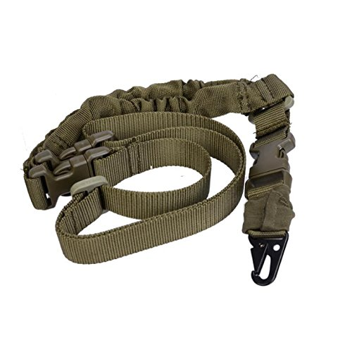 generic-tactico-one-1-unico-punto-sling-ajustable-bungee-rifle-sistema-de-correa-verde