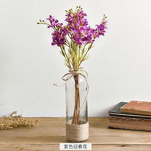 KPHY originalität genossenschaft glas vase handarbeit hanf seil transparent floral orgel - vase ornamente strauß frisch floristik pastoralen künstliche blumen g