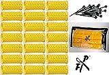 FP Flachwellwickler - Wasserwellwickler Set m. Aufbewahrungstasche 30 mm gelb