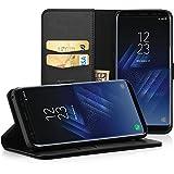 "EasyAcc Samsung Galaxy S8 5.8"" Hülle Lederhülle Tasche Handyhülle mit Standfunktion Card Holder Kunstleder Schwarz"