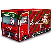 Coca Cola Camión de adviento - Pack de 15 Coca Cola Zero Zero Minican y 9 regalos navideños