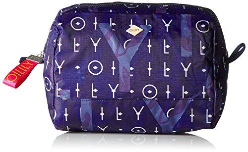 Oilily Damen Ruffles Washbag MHz 1 Clutch, Blau (Dark Blue), 6x16x23 cm