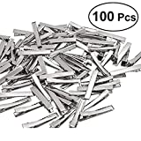 100Pcs 4cm Flat Metal Single Prong Alligator Hair Clips Duckbills Barrette Bow DIY