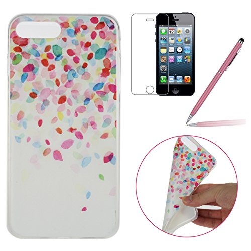 iPhone 7 Plus Coque,iPhone 7 Plus Case,iPhone 7 Plus Cover - Felfy Ultra Slim Ultra Mince Flexible Souple Soft Gel TPU Silicon Case Clair Cover Coque Housse Couleurs de Motifs Anti Scratch Couverture  Colorful Dentelle case