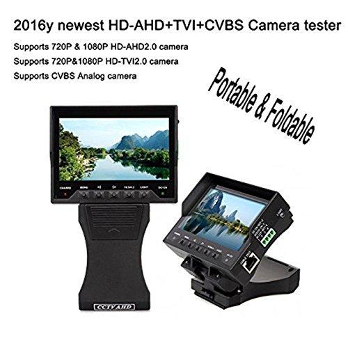 Terryshop74 Tester per installatori di videosorveglianza , Monitor con alimentazione a batteria, alimenta la vostra telecamera