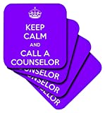 Best Counselor Mugs - 3dRose Keep Calm and Call A Counselor Purple Review