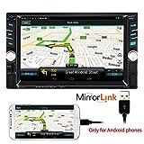 PolarLander Autoradio Bluetooth, Autoradio mit Freisprecheinrichtung, Rückspiegel Spiegel für...