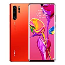 Huawei P30 Pro 512 GB 6.47 Inch OLED Display Smartphone with Leica Quad AI Camera, 8GB RAM, EMUI 9.1.0 Sim-Free Android Mobile Phone, Dual SIM, Amber Sunrise, UK Version