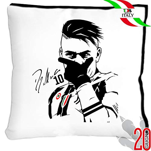 PLSH Cuscino 40x40 - Dybala La joya Maglia Maglietta Ronaldo CR7 Juve Juventus Bianconero