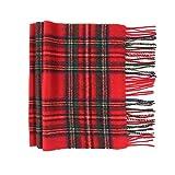 Oxfords Cashmere Reine Schurwolle Luxury Tartan Schal, Royal Stewart