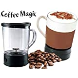 Cartshopper Self Stirring Magic Mug Transparent Glass Coffee, Tea, Soup, Chocolate Mixing Cup Automatically