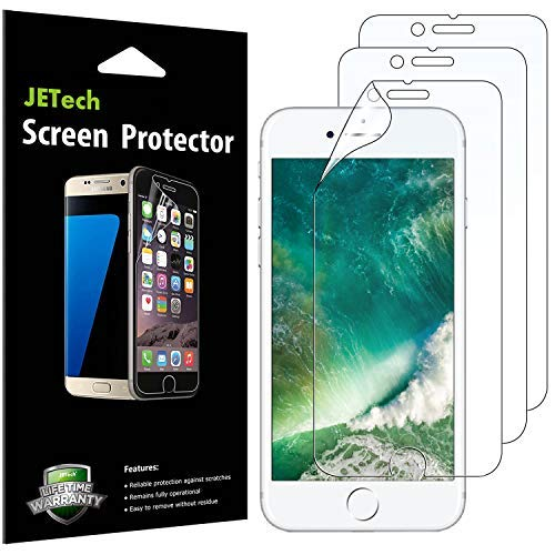 JETech Schutzfolie für iPhone 7 Plus iPhone 8 Plus, PET Bildschirmschutzfolie, 3 Stück