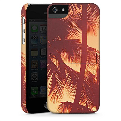 Apple iPhone X Silikon Hülle Case Schutzhülle Palmen Abendrot Urlaub Premium Case StandUp