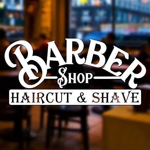 pegatinas decorativas pared Barber sign Decal Beauty Salon Vinyl Stickers  Barber Shop Hair Salon Window Door Vinyl Decal Sticker Sign Graphic Display