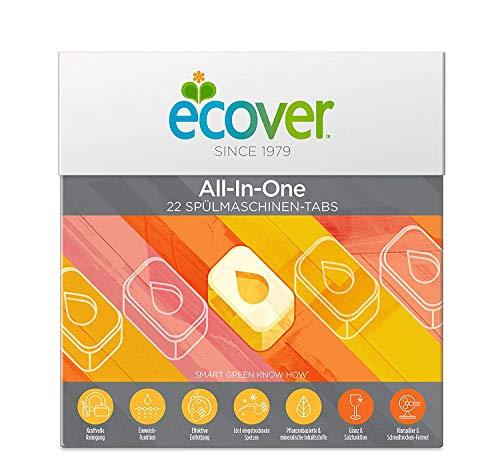 Ecover All-In-One Spülmaschinen-Tabs Zitrone, 22 Stück, 440 G