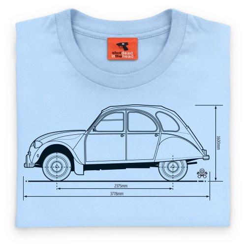 PistonHeads De Chevaux Subcompact car T-Shirt, Herren Himmelblau