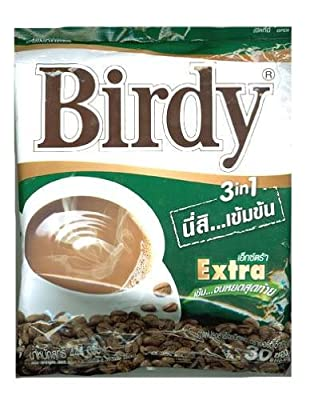30 sticks Instant coffee 3in1 BIRDY EXTRA+Free Shipping World Wide from Thailand