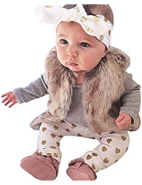 SAMGU 1 Set Baby Spielanzug + Lange Hosen + Stirnbänder Neugeborene Kleidung Kinder Overall Bodysuit