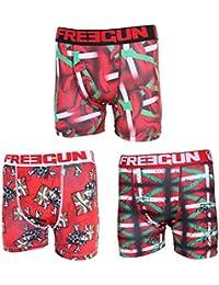Freegun - lot de 3 boxers homme - Pays basque