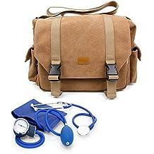 DURAGADGET Bolso Marrón / Botiquín Para Equipo De Primeros Auxilios | Interior Acolchado Y Con Separadores - Perfecto Para Médicos / Paramédicos / Enfermeros