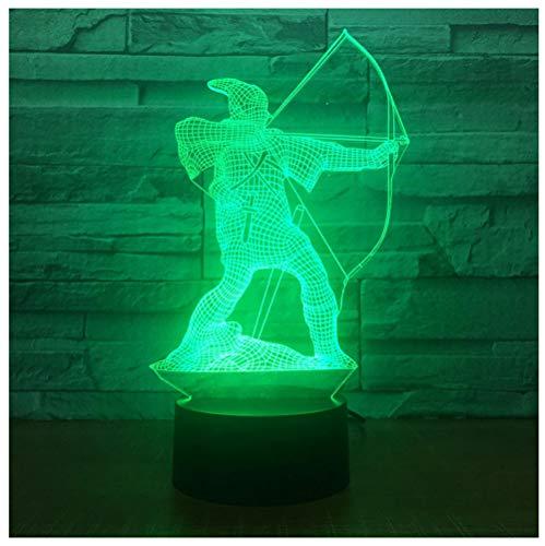 Stick Archer 3D 7 Farbe Lampe Visuelle Led Nachtlichter Für Kinder Touch Usb Tisch Baby Mit Schlaf Lichter Touch Schalter (Stick Kleinkinder Pferde Für)