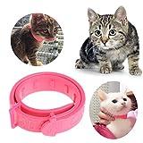 Lunji Réglable Collier antiparasitaire pour Petit chien chats - rose -1.5x28cm