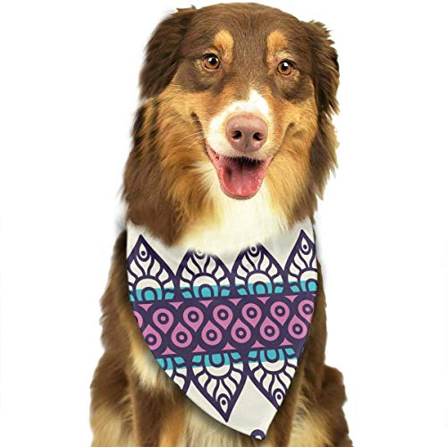 Wfispiy Geometric Fringes Symmetric Fashion Pet Bandanas Dog Car Neck Scarf for Unisex Pet Boy Girls
