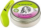 Greendoor Anti Aging Maske Aloe Vera + Cranberry, Gesichtsmaske 35g, konzentriertes Pulver zum frischen Selbstanrühren, inklusive Kosmetikspatel, Aloe Vera Naturkosmetik natürlich ohne Tierversuche